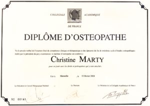 ChristineMarty-diplome osteo