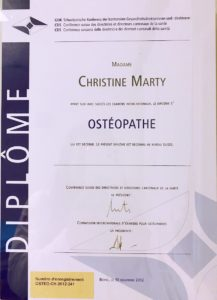ChristineMarty-Diplôme suisse CDS